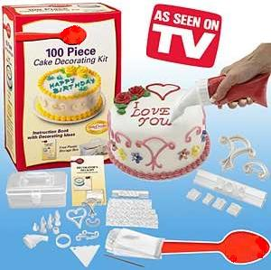 Cake Decorating Kit Matchbox : As Seen on TV: Decorator s Delight 100 Piece Cake ...