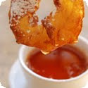 Beignets aux Pommes, Sauce Abricot (Apple Fritters with Apricot Sauce)