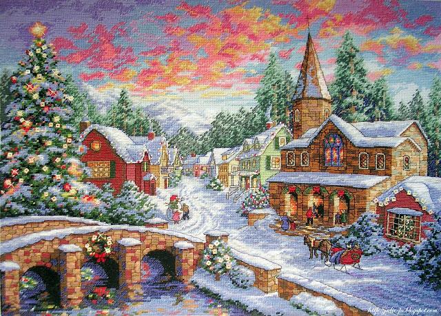 Dimensions 08783 - Рождественская деревня / Holiday village