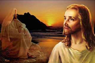 Jesus Christ drawing art background with sunrise background image free download religious pictures of Jesus and Christian bible images