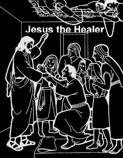 Jesus the healer line art drawing picture and people, leper praying Christ download free religious cliparts(clip arts) and Christian pictures