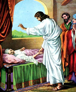 Jesus Christ taken the hand of leper and healed him color drawing picture free download miracle pictures of Jesus and religious photos