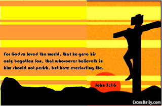 Christ on Cross power point background of John 3:16 bible verse  picture free download religious photos and Christian PPT background images