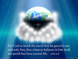 For God so loved the world that he gave his one and only Son, that whoever believes in him shall not perish but have eternal life John 3:16 bible verse hd(hq) wallpaper Very beautiful photo of God hands holding the earth in blue color background image