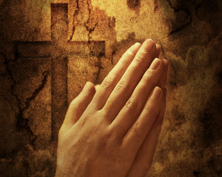 Hands clasped in prayer, Worshiping hands of woman praying the lord in the Cross background picture free religious images and Christian clip art images download
