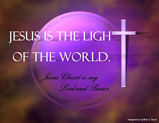 Jesus is the light of the world and Jesus Christ is my lord and savior desktop background wallpaper with cross