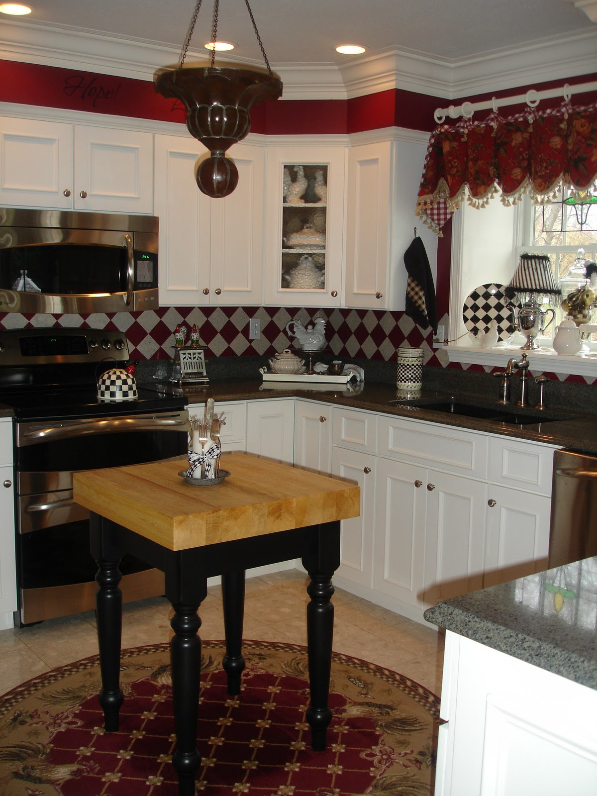 Warehouse Kitchen Appliances Red Kitchen Cabinets With Black Appliances Quicuacom