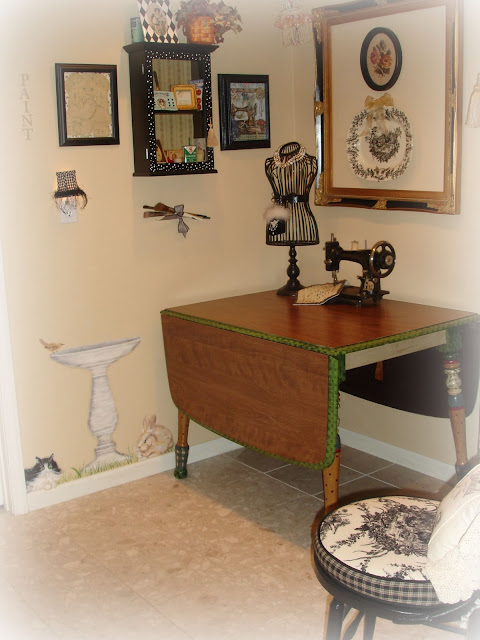 The Table Above Was A New Marriage Piece Of Furniture That My In Laws Were No Longer Using The Top Is Formica So It S Easy To Clean Off Any Glue Or