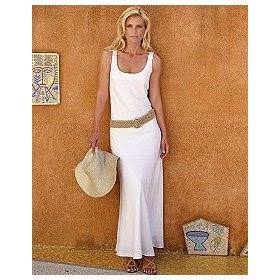 Linen Dress on Spiegel Signature Washed Linen Collection  Long Bias Cut Dress