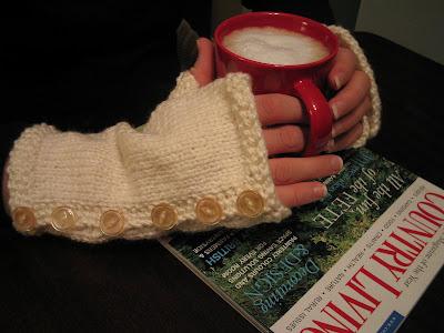 Knitting Patterns For Fingerless Gloves Using Straight Needles : Bibliosophy Books: Knit Flat Fingerless Gloves