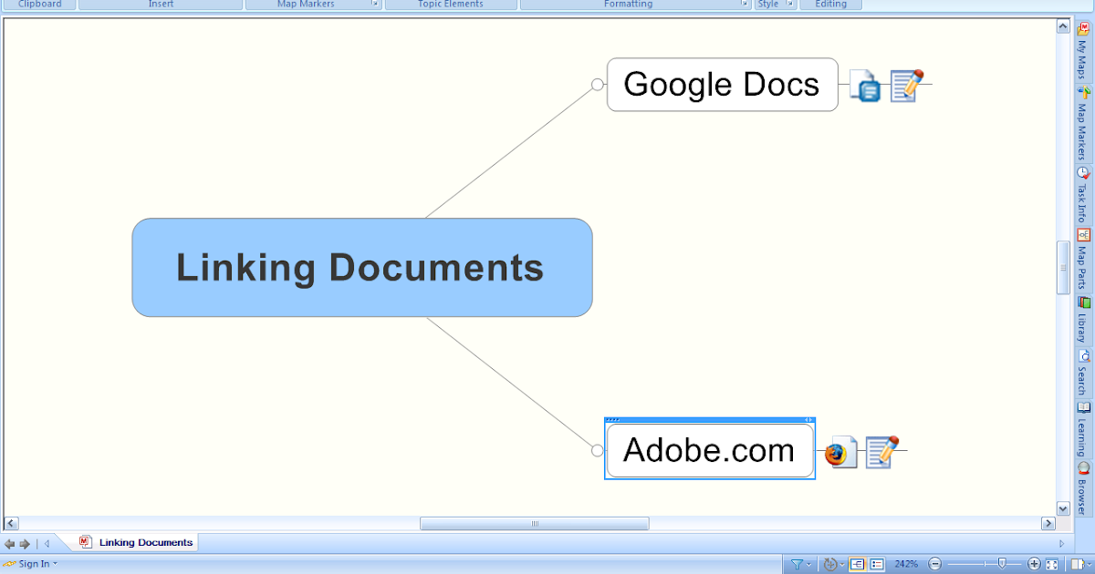 assistive technology export as mindjet player tip  linking documents