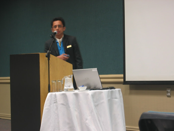 Delivering Talk at Bio-Based Composite Conference, Novotel Hotel, Rotorua, New Zealand