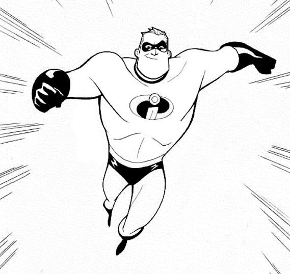 Cristuff for Mr incredible coloring pages