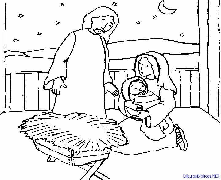 Jesús recién nacido. NT. Dibujo para colorear. B/N | Ana de Austria ...