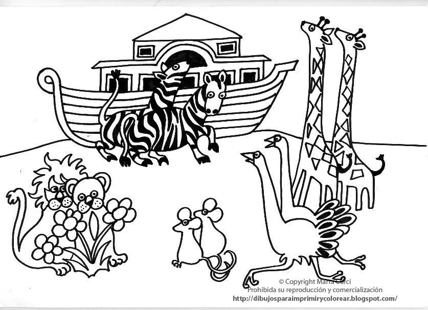 Dibujos para colorear. Arca de Noé | Ana de Austria Religión