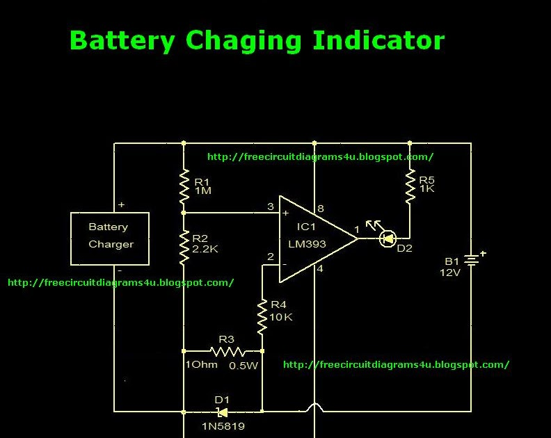 Wiring Diagram For 12v Indicators : Wiring schematic diagram guide battery charger indicator