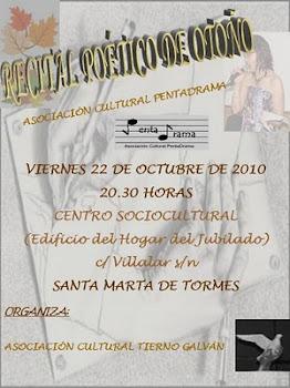 Recital Poético y Musical en la Asociación Tierno Galván de Santa Marta (Salamanca)