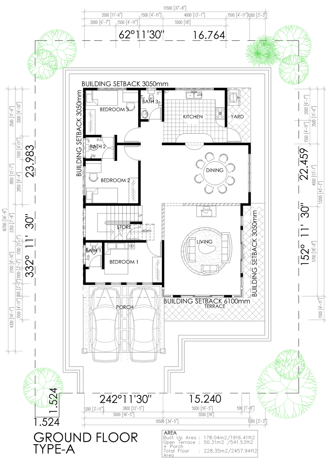 Pelan Rumah Banglo Setingkat Setengah | Joy Studio Design Gallery ...