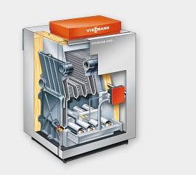 Котел чугунный Vitogas 100-F с атмосферной горелкой 132 кВт.