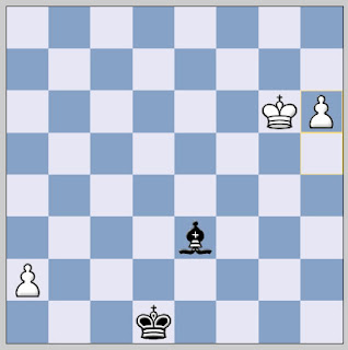 chess outside passed pawns against lone bishop