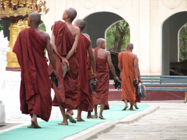 Bare feet for Burma