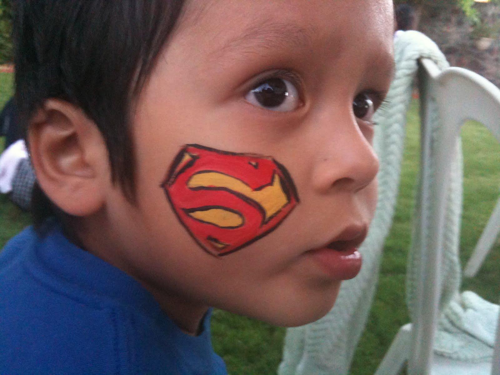 Superman Face Paint