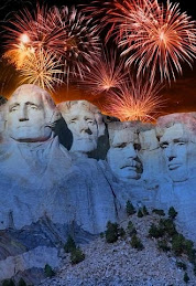Fireworks over Mt. Rushmore