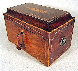 A tea caddy from the 1790s.