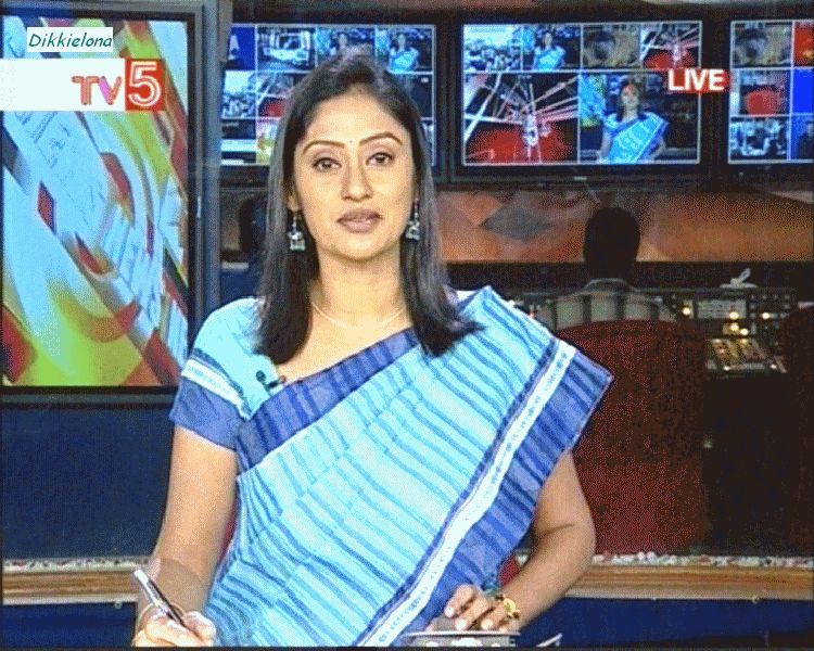 Tollywood Aunties and Actresses: TV5 news reader Kalyani