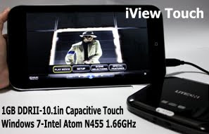 iView Touch D13 Windows 7 Tablet Intel Atom N455