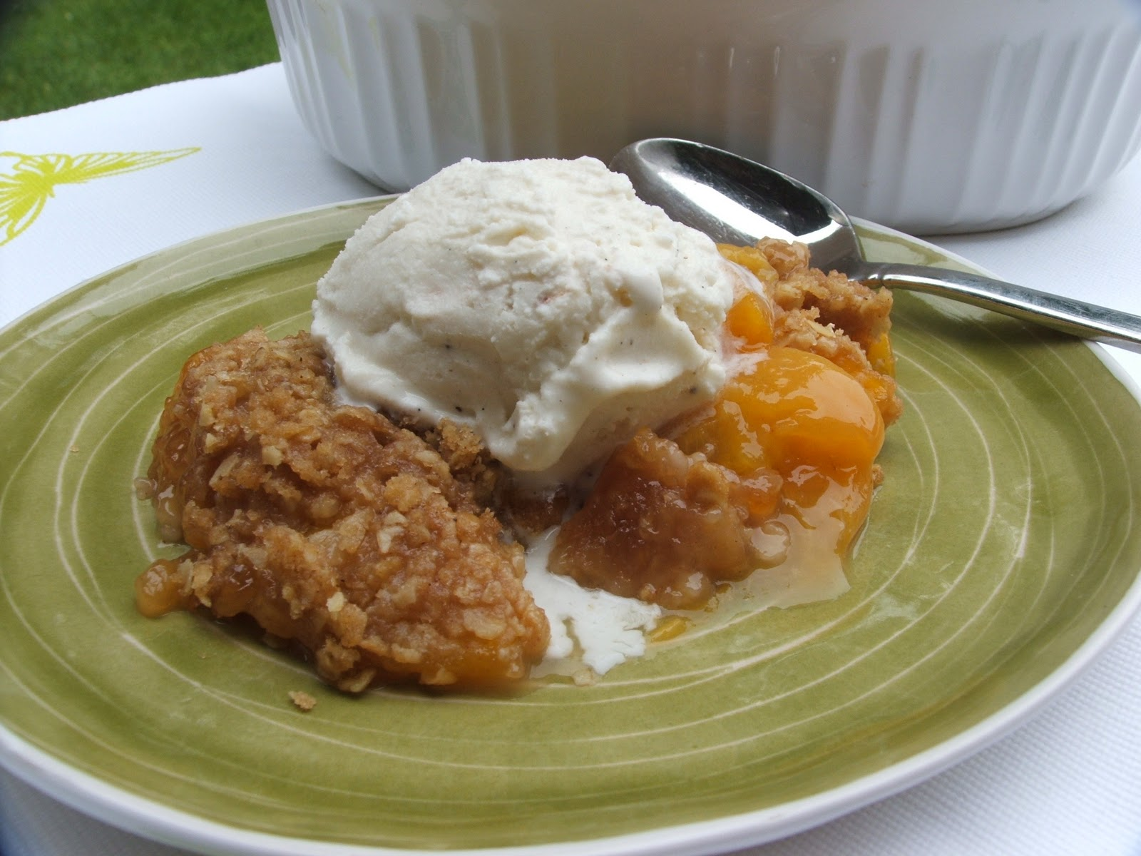 Angie Montroy–Angie's Pantry: Peach Crisp...Dreamy!