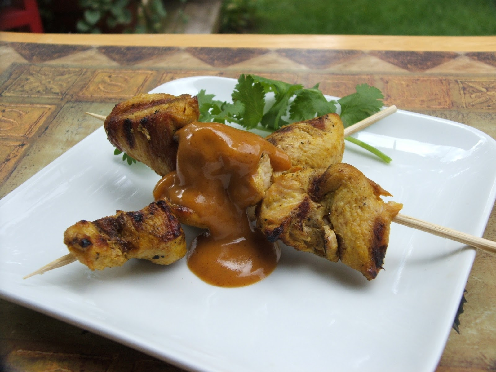 satay sauce chicken satay chicken satay with peanut cilantro coleslaw ...