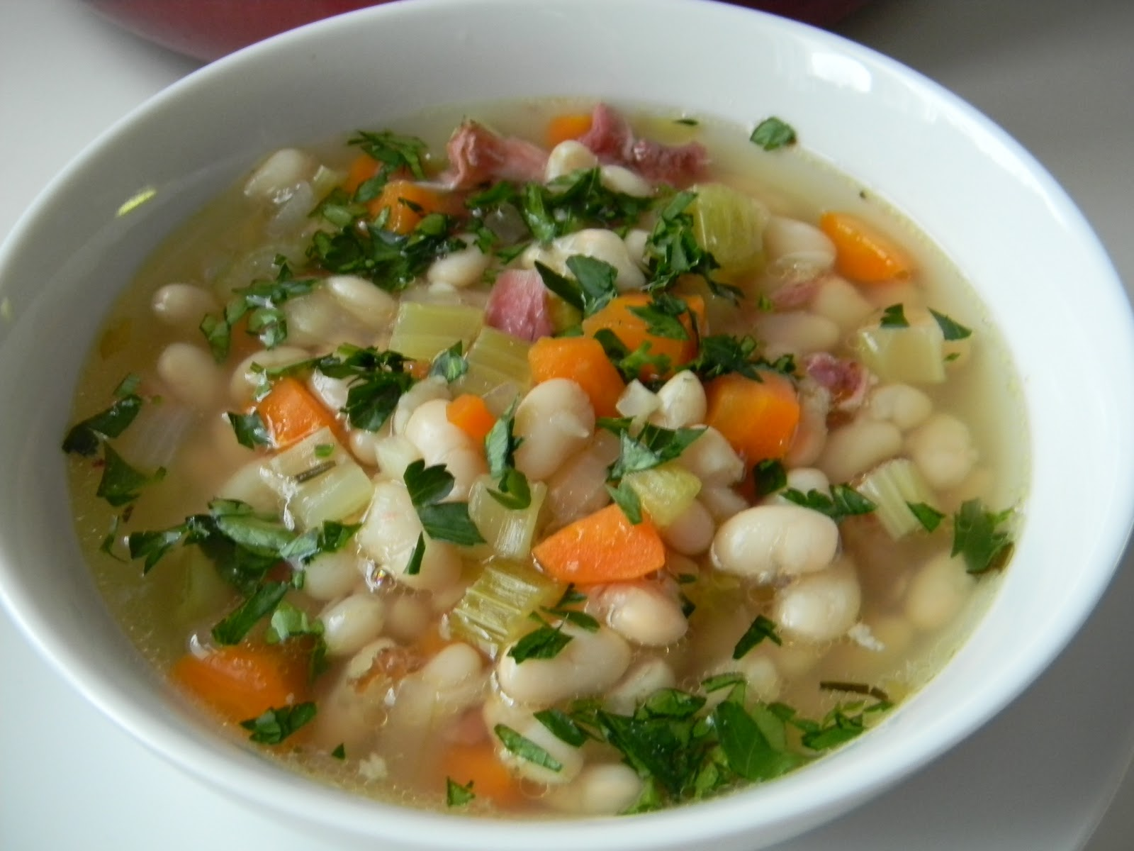 Angie Montroy–Angie's Pantry: White Bean Soup with Ham Bone....