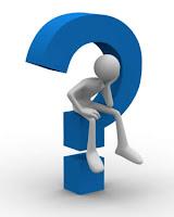 Man Sitting in Question Mark
