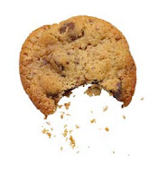 A crumbling cookie