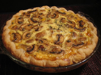 My Own Sweet Thyme: It\'s All About Attitude - Mushroom and Brie Quiche