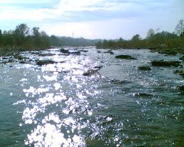 Il fiume vicino a casa...