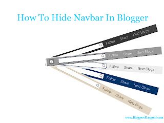 How To Hide Navbar In Blogger