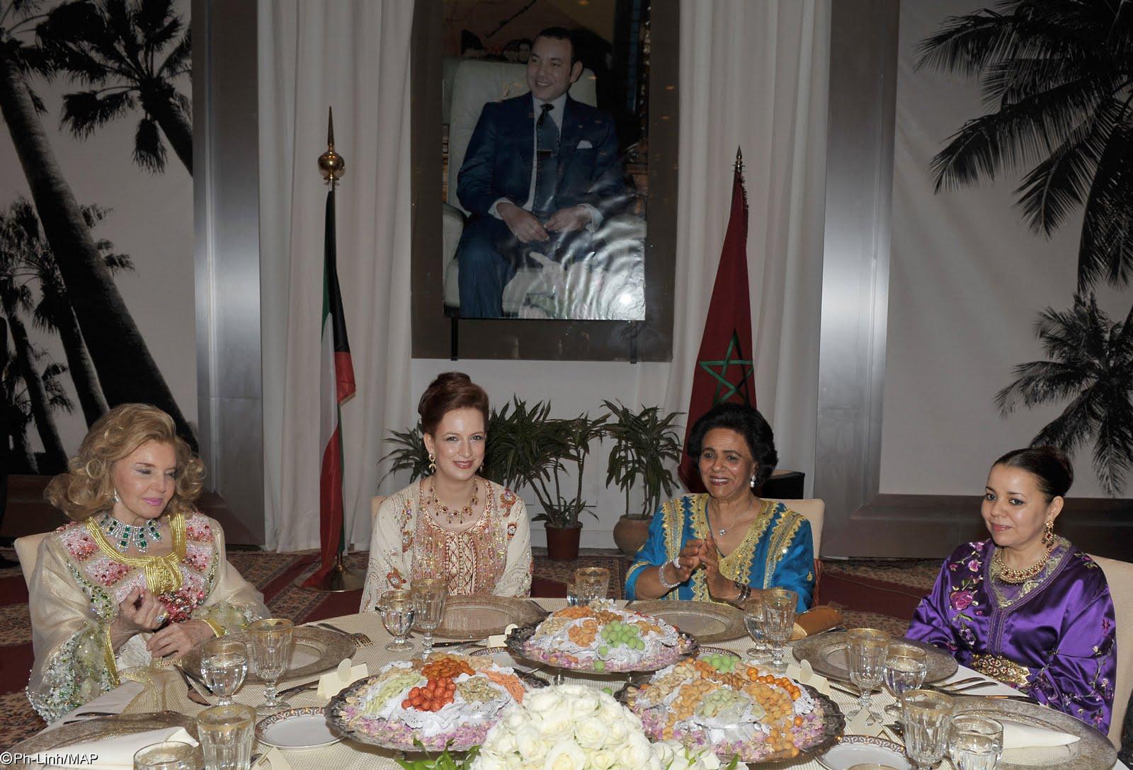 Lalla Salma lors du dîner offert par SA Cheikha Fariha Al-Ahmad Al