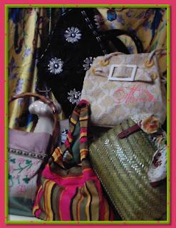 Conjunto de bolsos hechos a mano