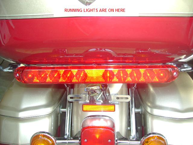 Red Reflective Lens Light Bar Kit