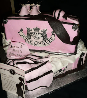 Bag Cake was made to help celabrate a Baby Shower in Staten Island New ...