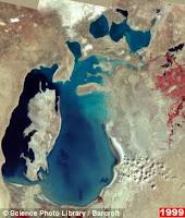 Foto satelit danau laut aral 1999