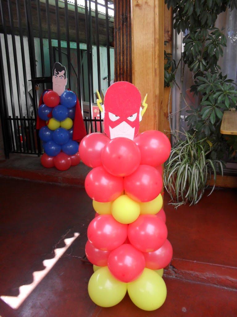 Decoracion de cumplea os super heroes for Decoracion de adornos