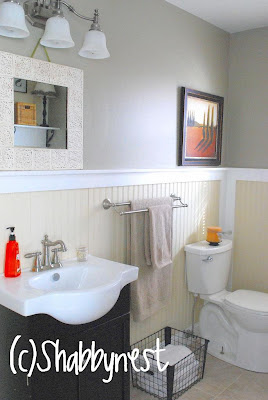 The Shabby Nest: Laundry/Half Bath Reveal