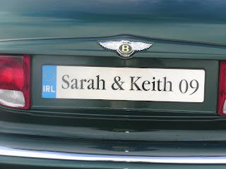 brides car