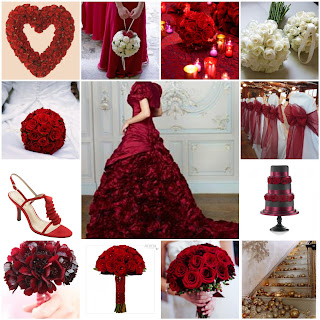 christmas wedding mood board