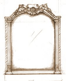 Design for gilt mirror