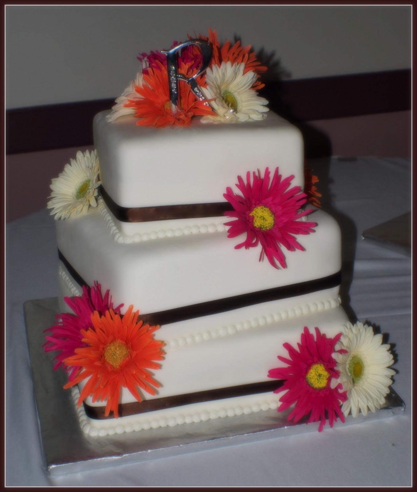 Square Gerber Daisy Cake Ideas and Designs