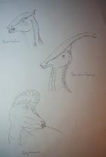 Mis dibujos - Cabezas de dinosaurios
